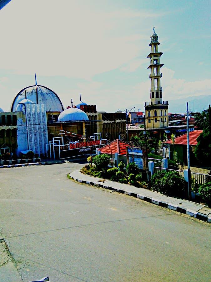 moskén var muslimsk dyrkan är mycket härlig arkivbild
