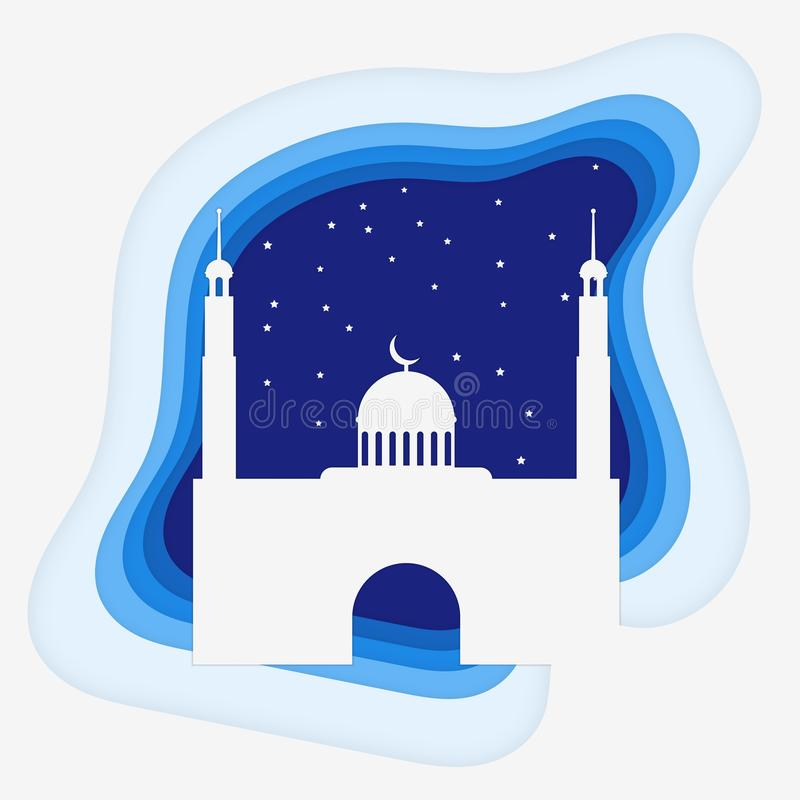 Mosképappersstil med stjärnavektorn royaltyfri illustrationer