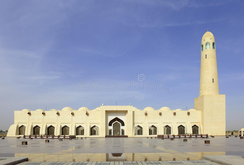 moskéqatar tillstånd arkivbild