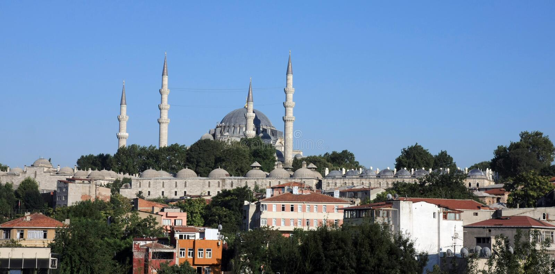 moskéstanbulsuleymaniye royaltyfria foton