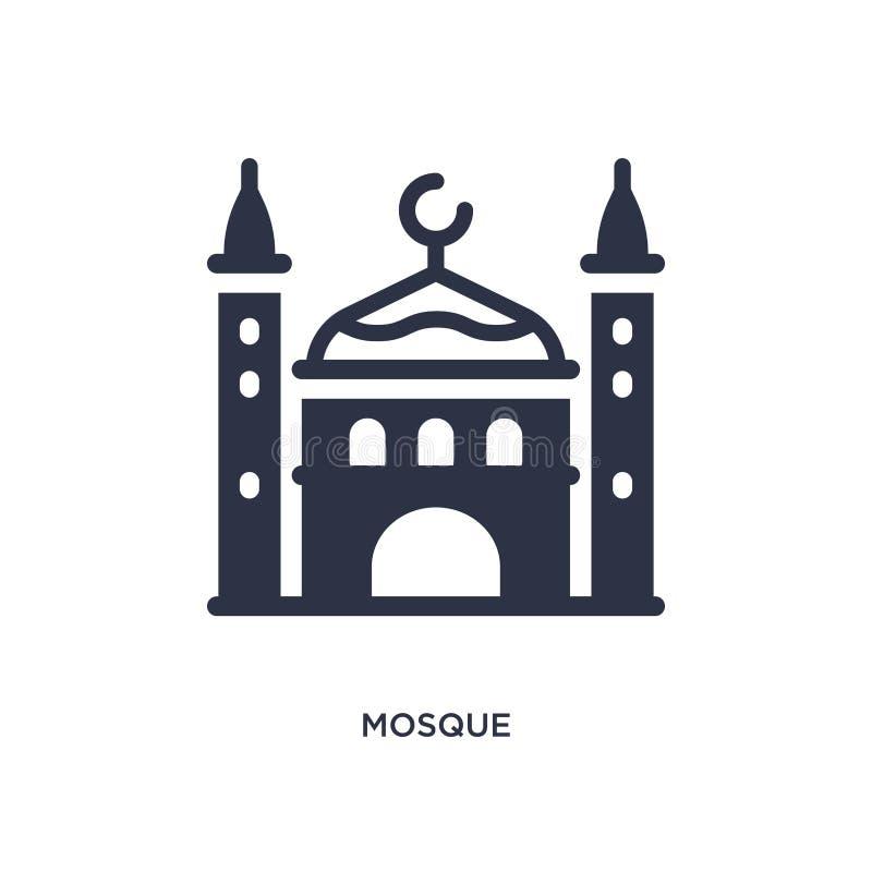 Moskésymbol på vit bakgrund Enkel beståndsdelillustration från ökenbegrepp stock illustrationer