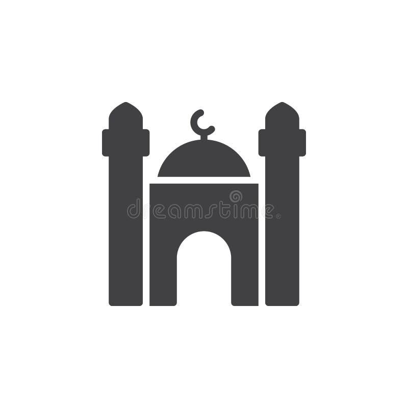 Moskésymbolsvektor, fyllt plant tecken, fast pictogram som isoleras på vit vektor illustrationer