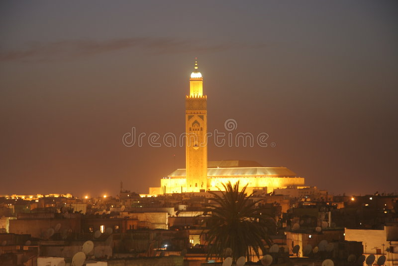 mosk de hassan II Maroc photo stock