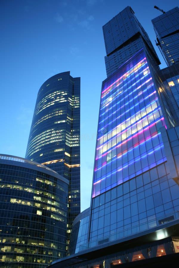 Moskau am Abend lizenzfreie stockfotos