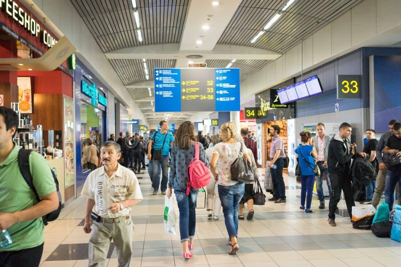 Moskau-aeroport lizenzfreie stockfotos