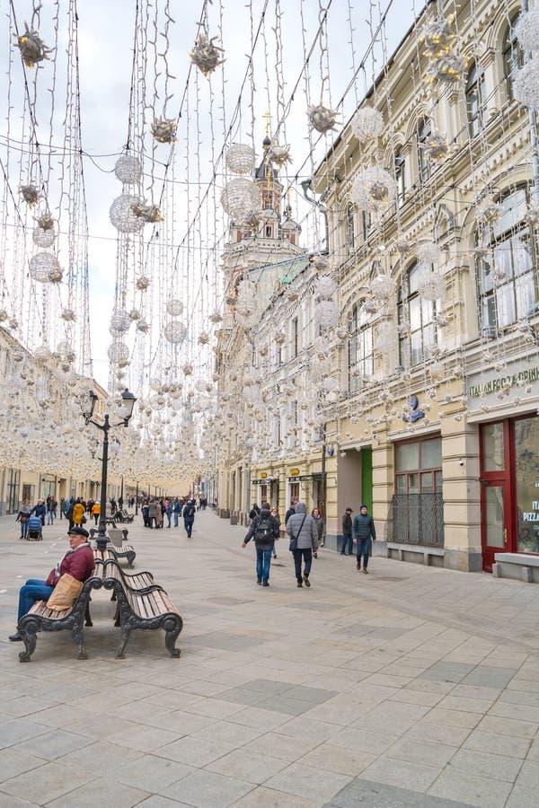 moskau Astrakhan-Sommer 2012 Garland Decoration lizenzfreies stockfoto