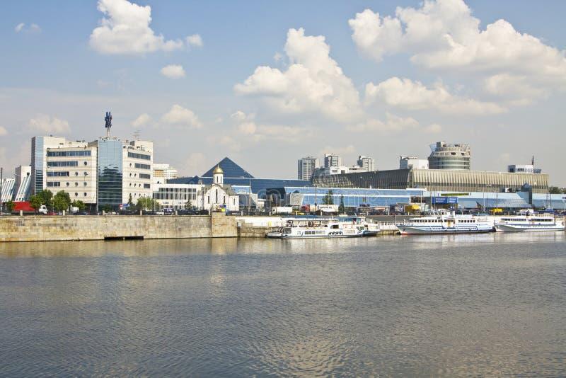 Moskau, Ausstellungsmitte Exporcentre lizenzfreies stockbild