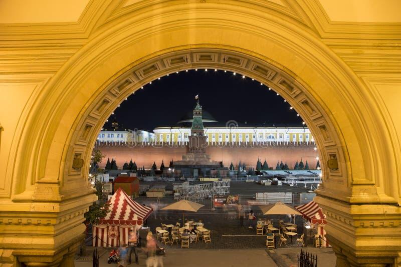 Moskau der Kreml bis zum Nacht, Russland Der meiste populäre Platz in Vietnam stockfotografie