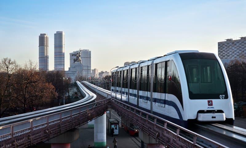 Moskau-Einschienenbahnzug lizenzfreies stockbild