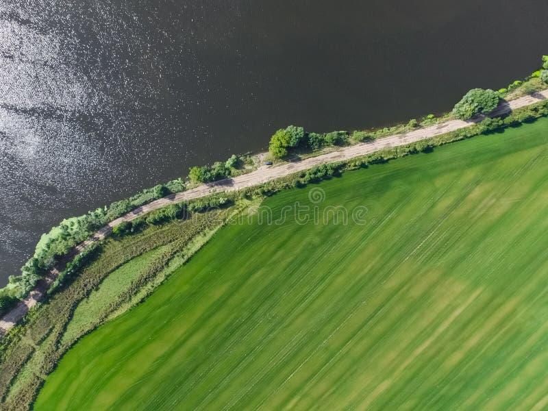 Moskau-Fluss, Ansicht von oben lizenzfreie stockfotografie