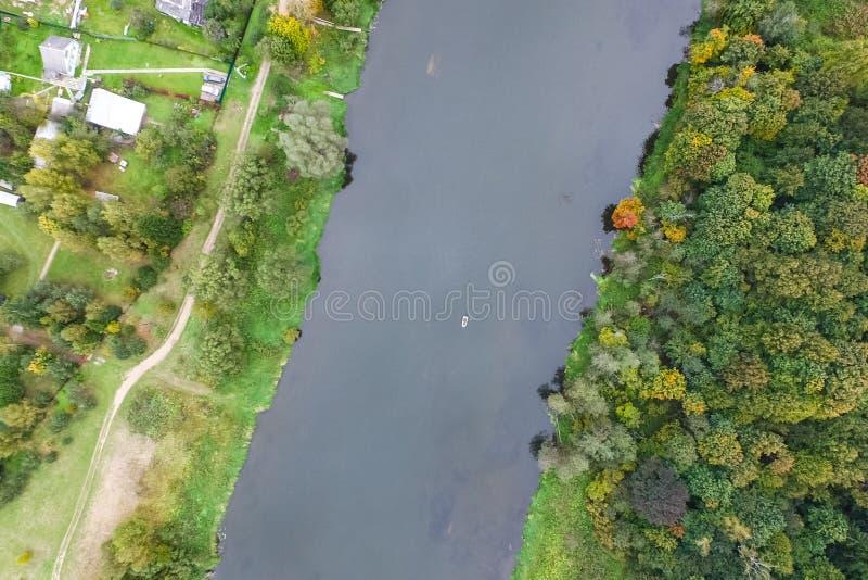 Moskau-Fluss, Ansicht von oben lizenzfreie stockbilder