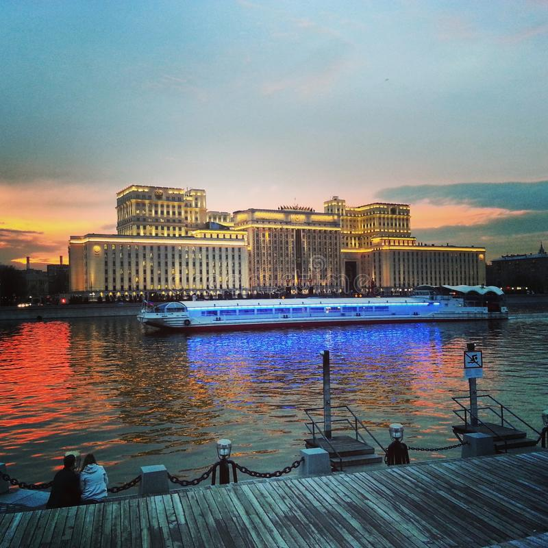 Moskau-Flusskreuzfahrt stockbilder