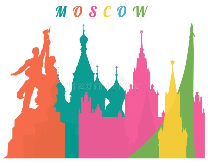 Moskau-Hintergrund lizenzfreie stockbilder