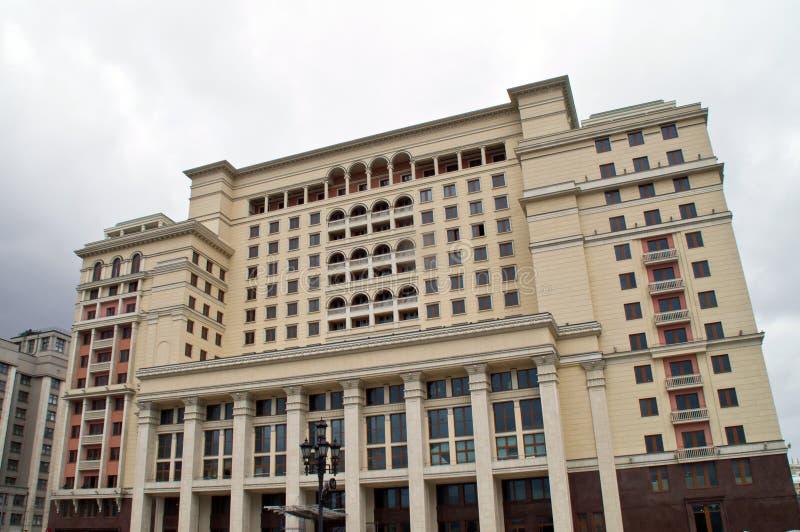 Moskau-Hotel nahe dem Moskau der Kreml auf Moskaus Manezh-Quadrat stockfotografie