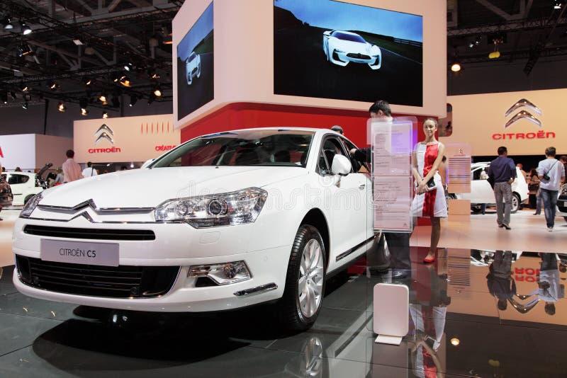 Moskau-internationale Autoausstellung 2010 lizenzfreie stockfotografie