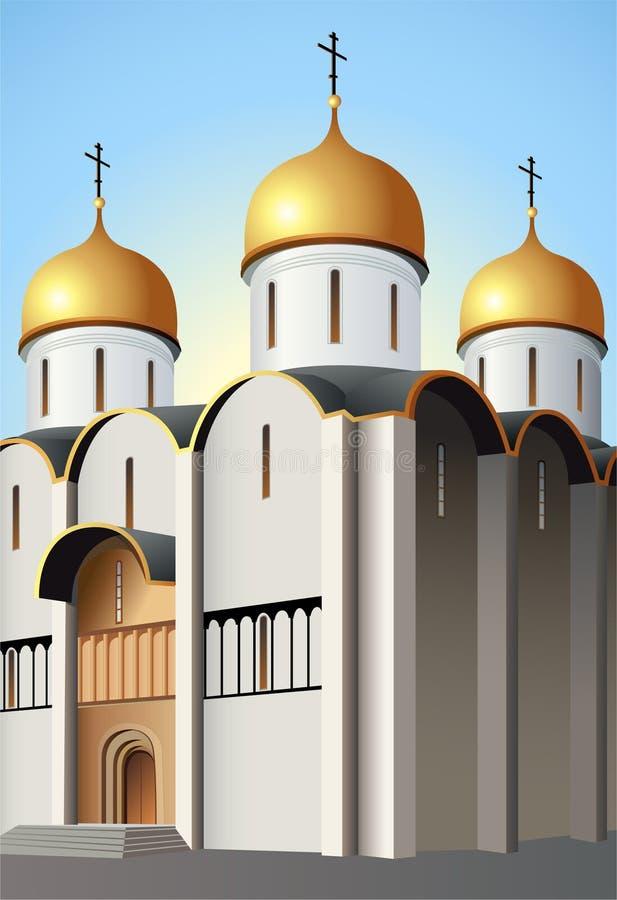 Moskau-Kirchevektor stock abbildung