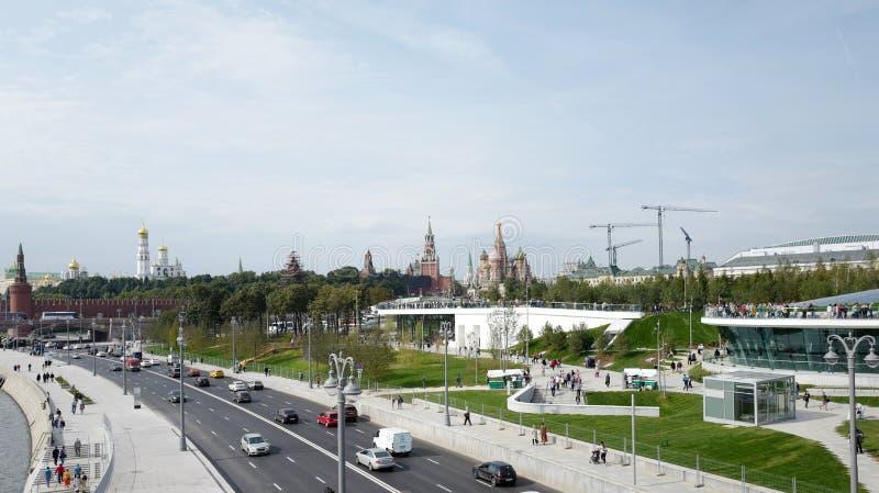 Moskau Kremlin Zaryadye-Park Russland stockbild