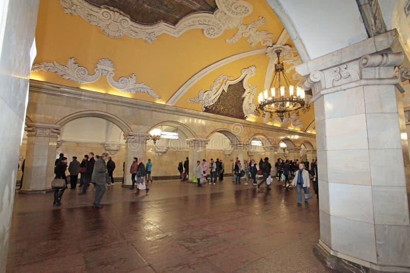 Moskau-Metrostation Komsomolskaya lizenzfreie stockfotografie