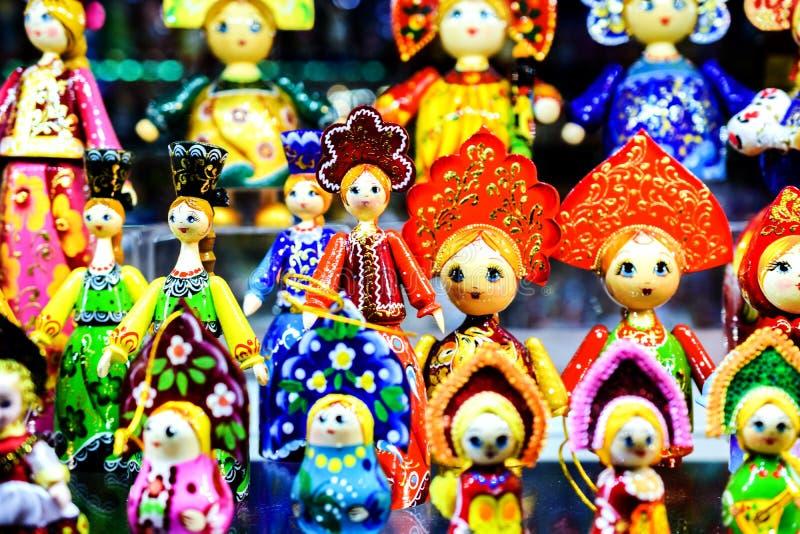 Moskau, Russia - 22 luglio 2016: Bambole russe Matreshka di incastramento immagini stock