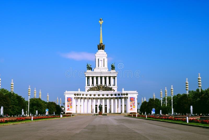 Moskau, Russia - 22 luglio 2016: Padiglione centrale VDNKh fotografia stock