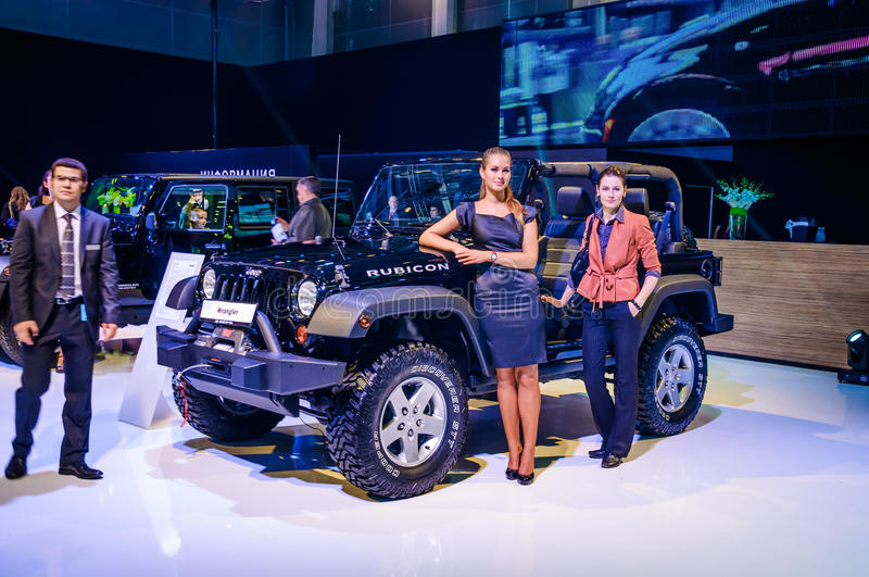 MOSKAU, RUSSLAND - AUGUST 2012: GENERATION JEEP WRANGLER-RUBICON 2. stockfotos