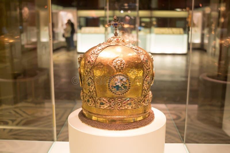 MOSKAU; RUSSLAND - das Zustands-historische Museum stockfoto