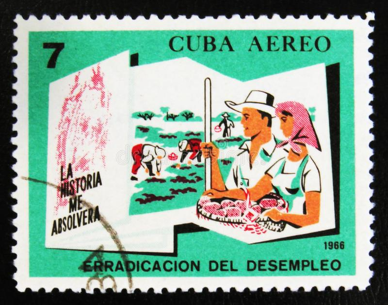 MOSKAU, RUSSLAND - 15. JULI 2017: Ein Stempel, der in Kuba gedruckt wird, zeigt PET stockfotos