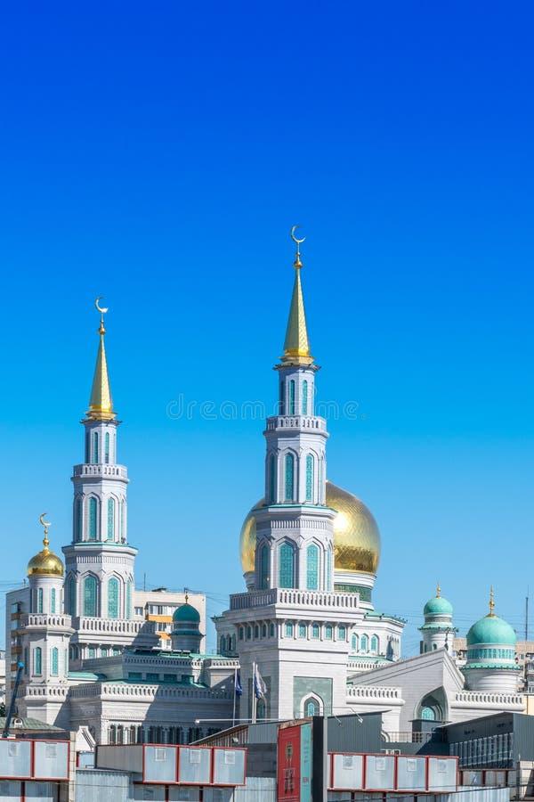 Moskau, Russland - 18. Mai 2019: Moslemische Moschee in Moskau stockfotografie