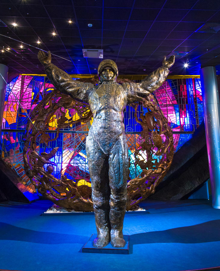 MOSKAU, RUSSLAND - 31. MAI 2016: Weltraummuseumausstellung lizenzfreie stockfotos