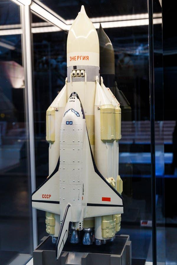Moskau, Russland - 28. November 2018: IA-Modell der Sowjet UDSSR-Version der Raumfähre genannt als Buran, die erste lizenzfreie stockfotos