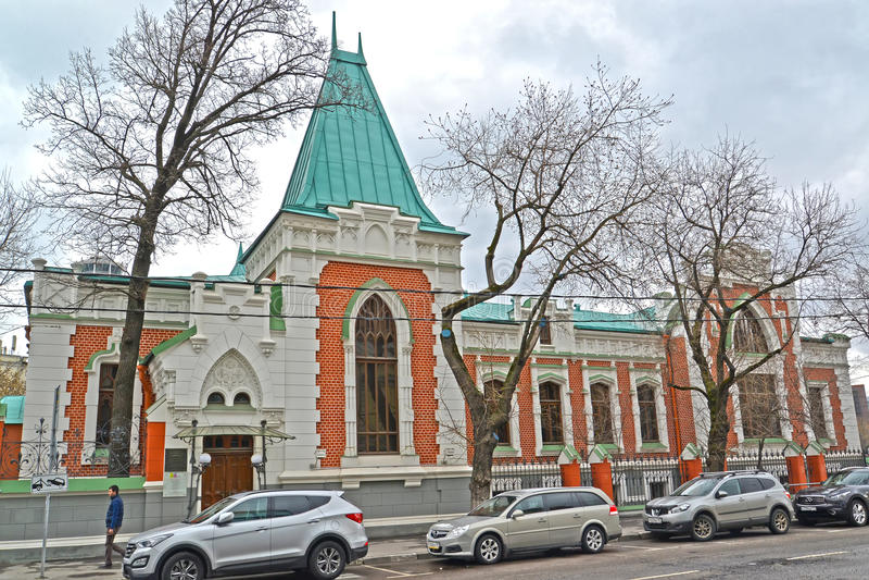 Moskau, Russland Zustandszentrales Theatermuseum von A A Bakhrushin lizenzfreie stockfotografie