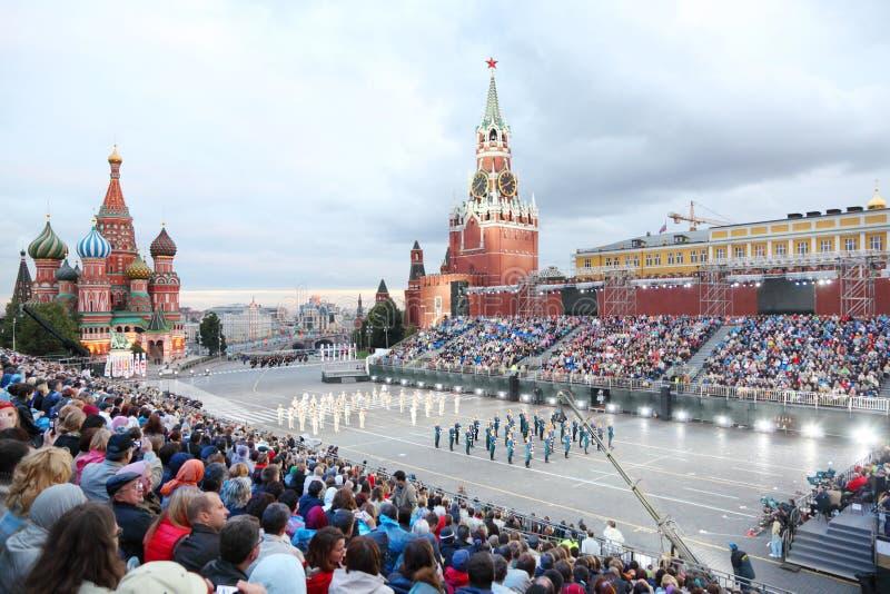 Zuschauer und Präsidentenorchester von Russland stockfotos