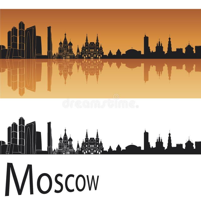 Moskau-Skyline lizenzfreie abbildung