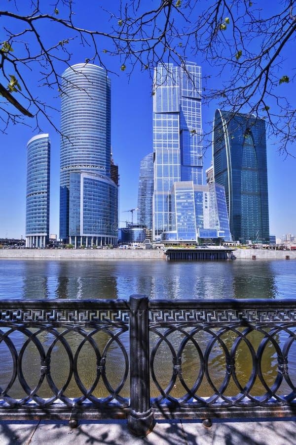 Moskau-Stadt Geschäftszentrum lizenzfreies stockbild
