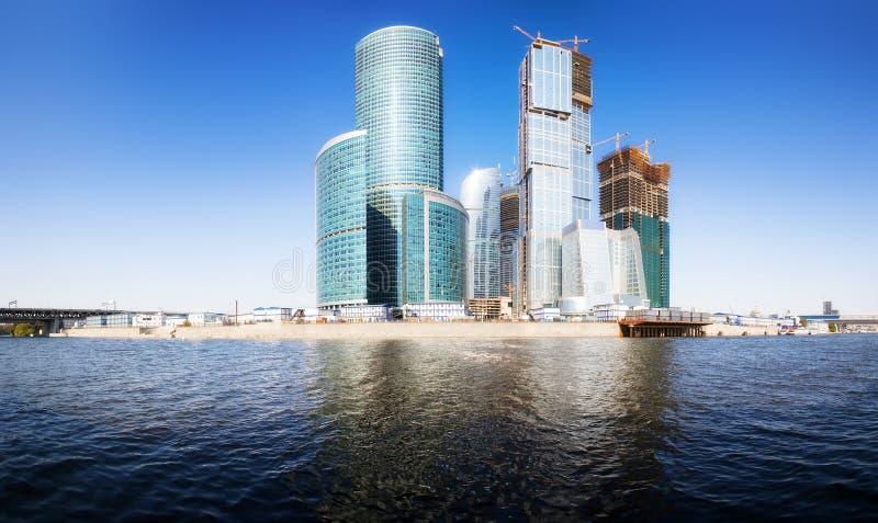 Moskau-StadtGeschäftszentrum stockfotos