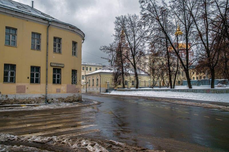 Moskau-Straßen ernstlich Russland stockbilder