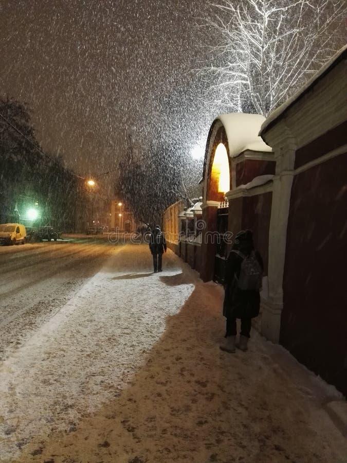 Moskau-Straßen im Winter stockfotos