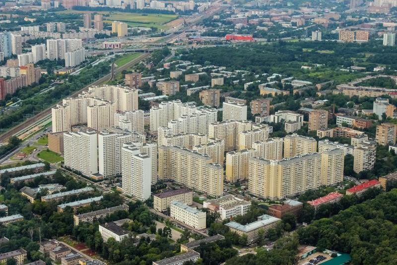 Moskau, Vogel ` s Augenansicht stockfotografie