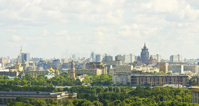 Moskau von der Vogelschau stockbilder