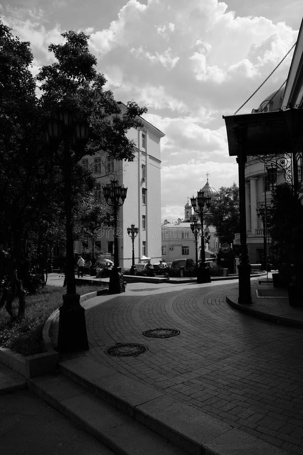 Moskau-Weg stockfoto