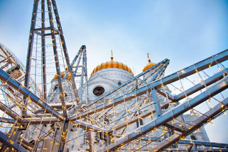 Moskau-Weihnachtskathedrale von Christus der Retter stockfoto