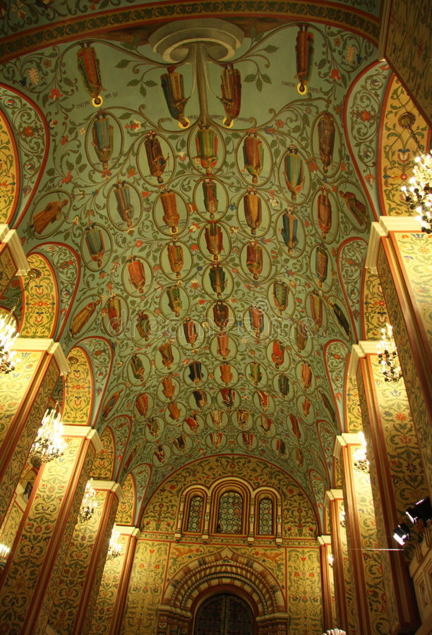 Moskau-Zustand-historischer Museumsinnenraum stockbild