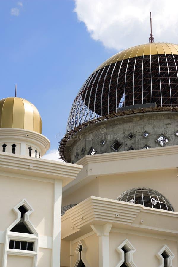 Moskee in aanbouw stock fotografie