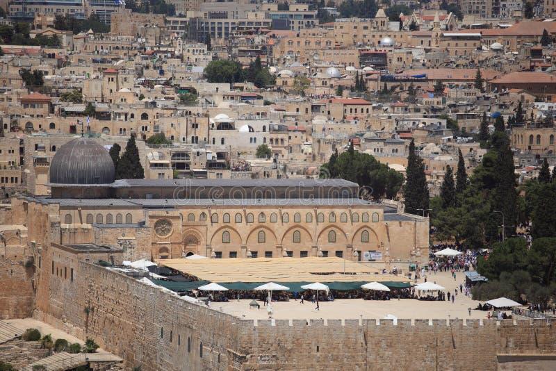 Moskee al-Aqsa van Dominus Flevit royalty-vrije stock foto