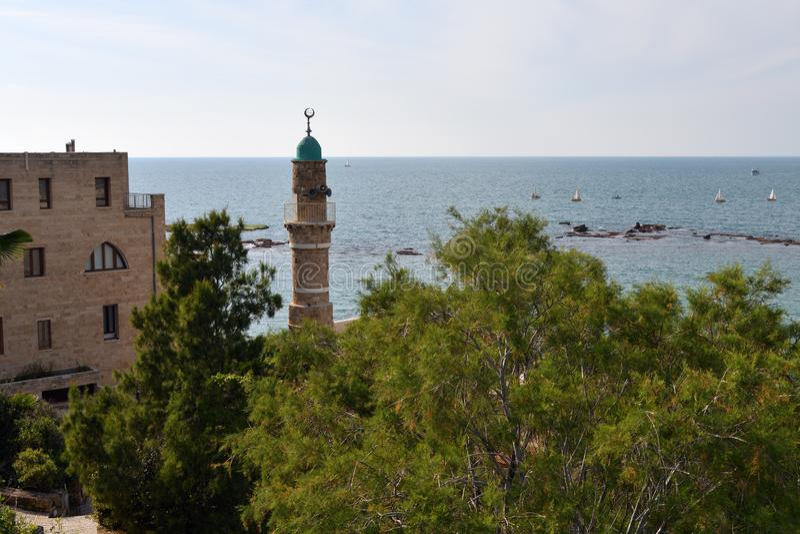Moskee al-Bahr Jaffa, Isra?l royalty-vrije stock fotografie