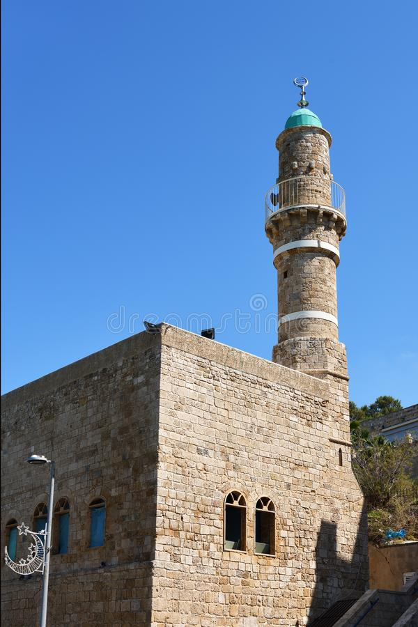 Moskee al-Bahr Jaffa, Isra?l stock afbeeldingen