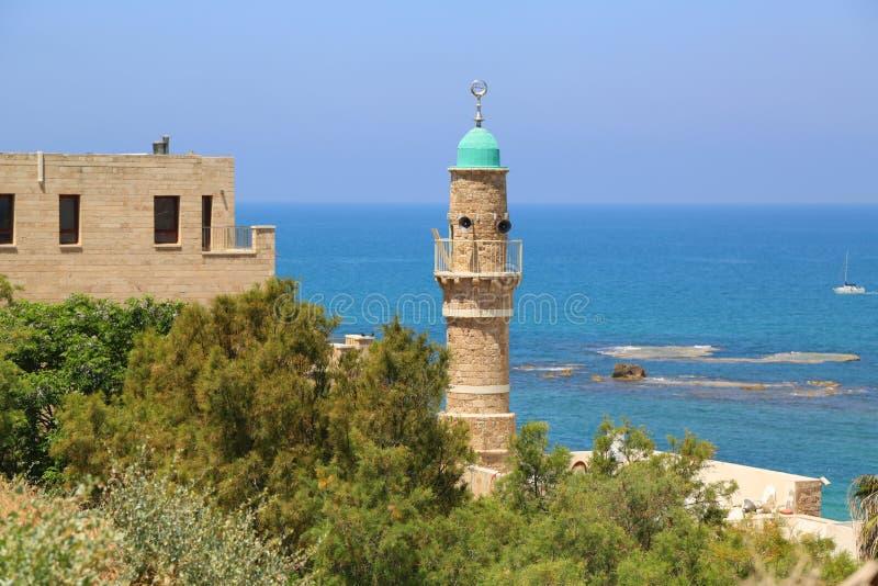 Moskee al-Bahr of Overzeese Moskee in Oude Stad van Jaffa, Israël stock fotografie