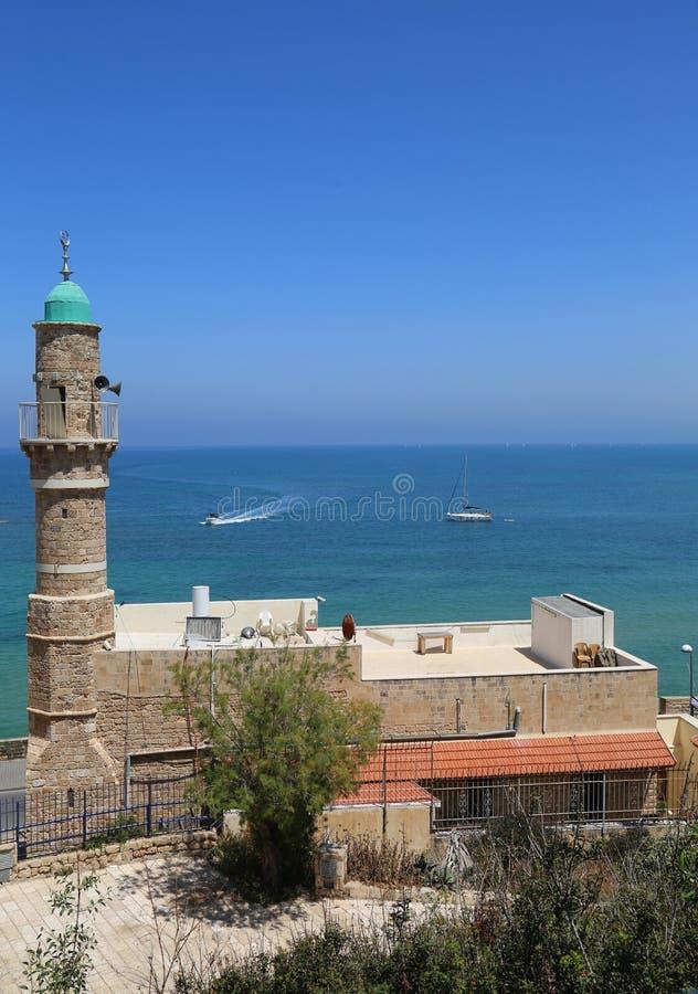 Moskee al-Bahr of Overzeese Moskee in Oude Stad van Jaffa, Israël royalty-vrije stock fotografie