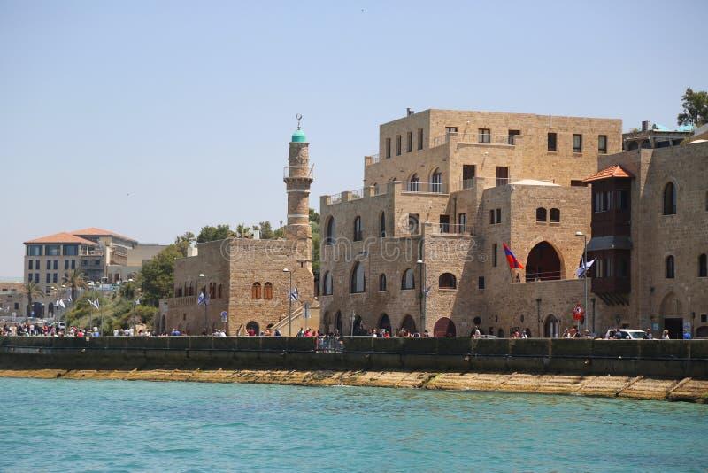 Moskee al-Bahr of Overzeese Moskee in Oude Stad van Jaffa, Israël stock foto