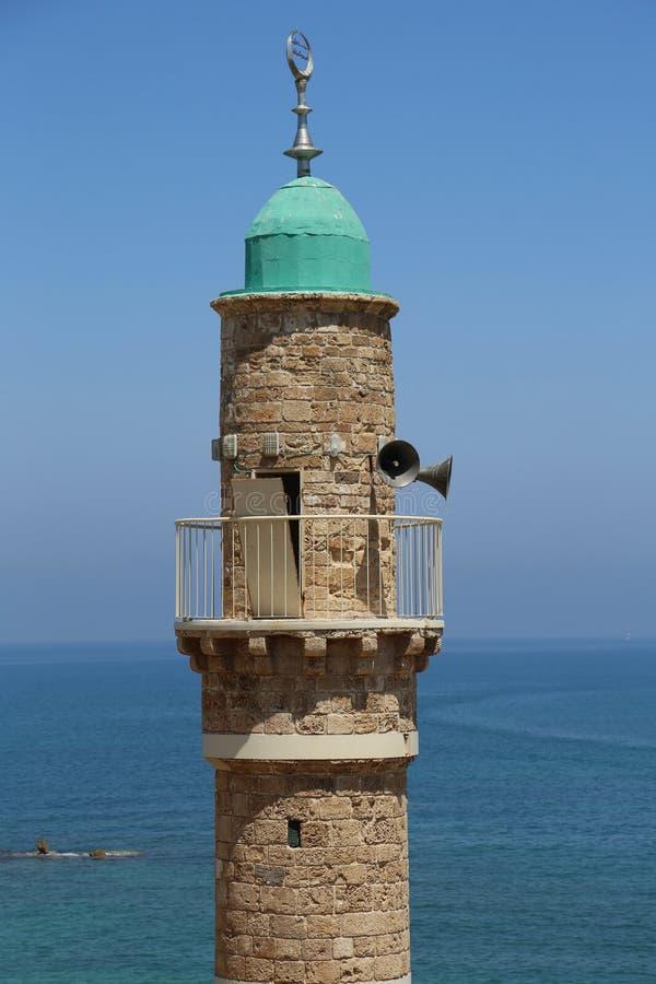 Moskee al-Bahr of Overzeese Moskee in Oude Stad van Jaffa, Israël royalty-vrije stock afbeelding